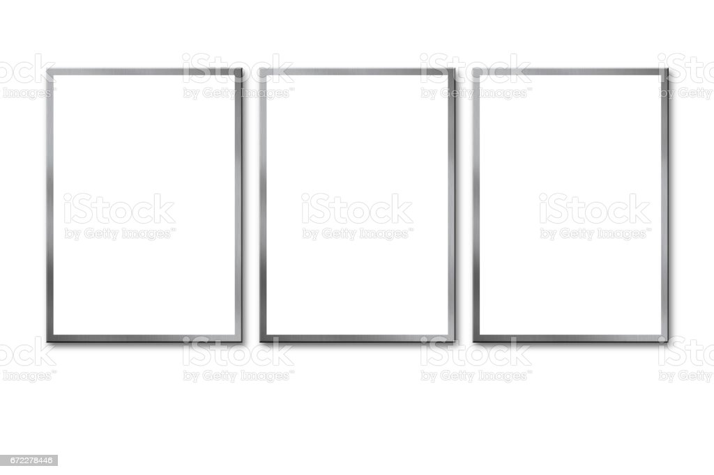Blank billboard on white background stock photo