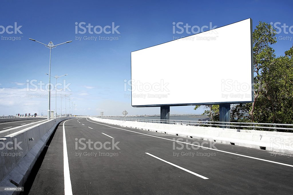 blank billboard or road sign stock photo
