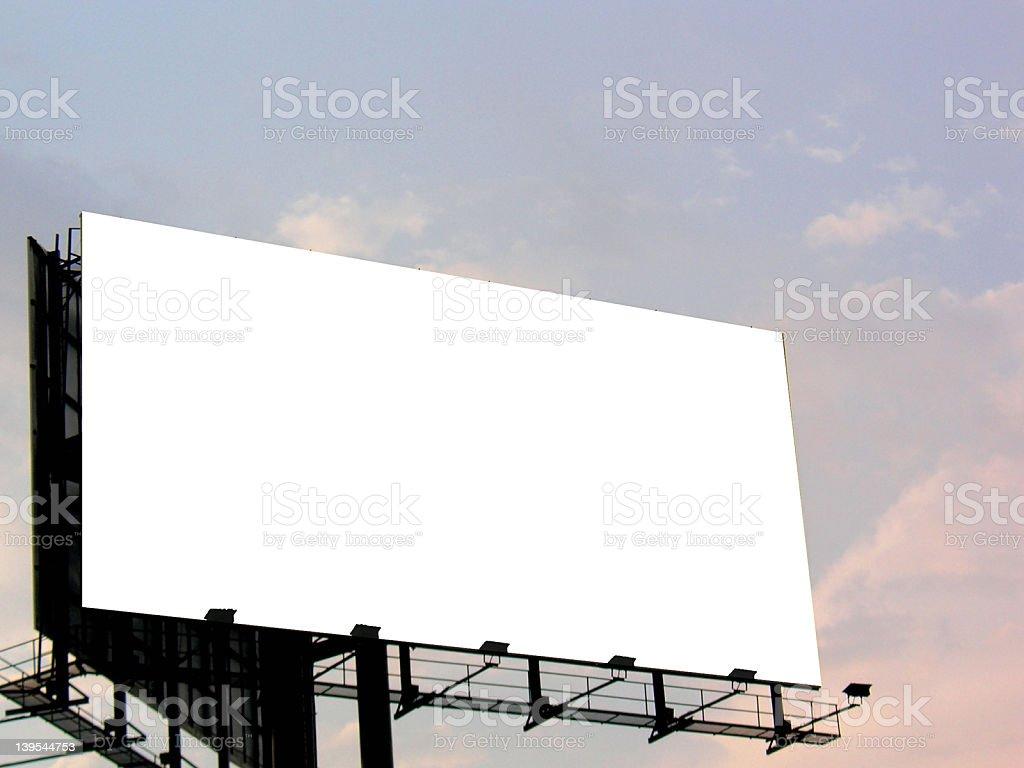空の看板 ロイヤリティフリーストックフォト