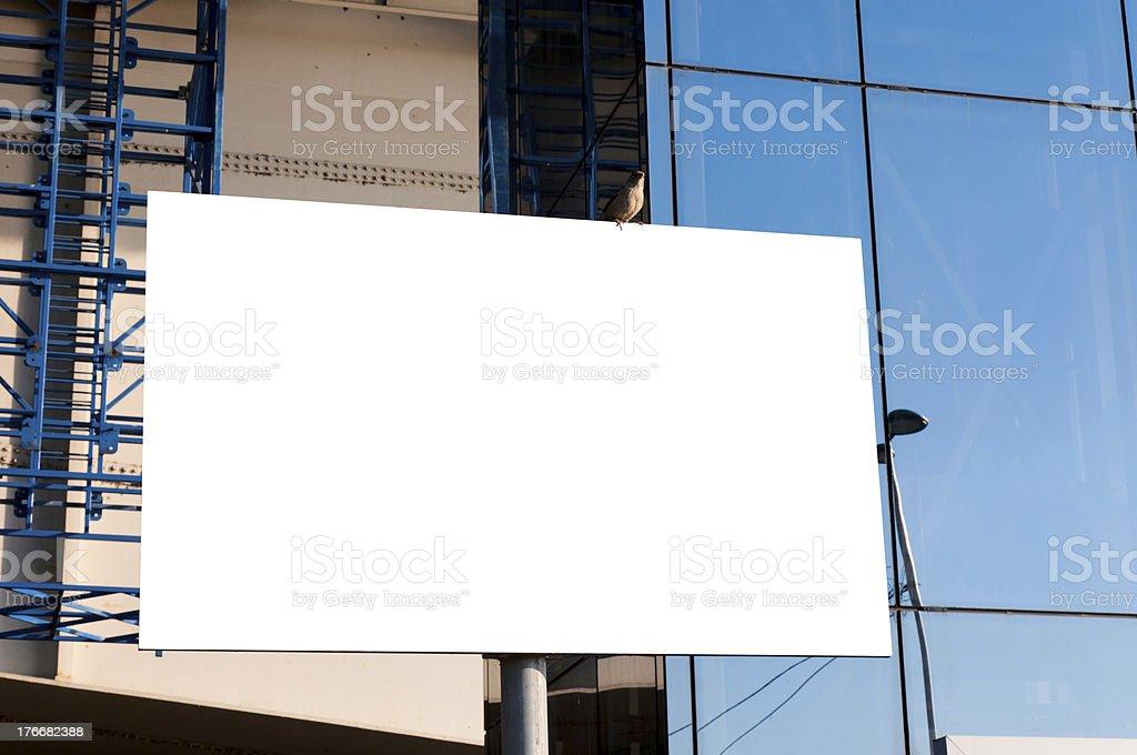 Blank billboard royalty-free stock photo