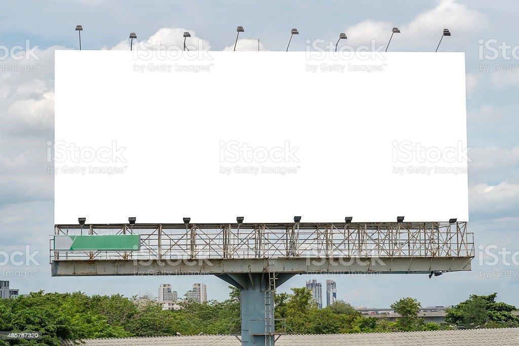 Blank Billboard Template stock photo