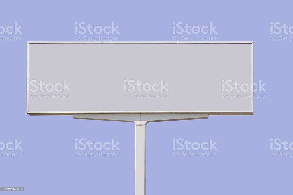Blank billboard w/ Clipping path royalty-free stock photo