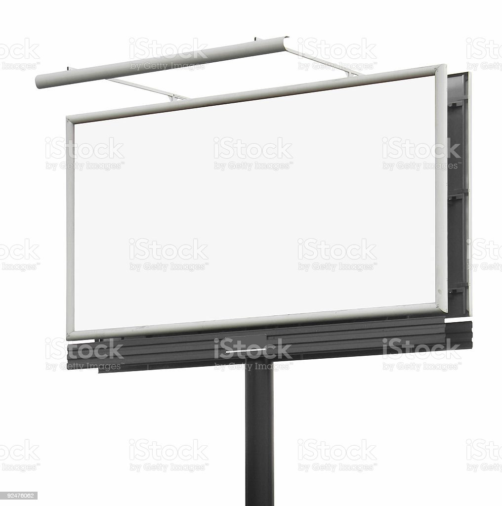 Blank billboard #2 [With clipping paths] royalty-free stock photo