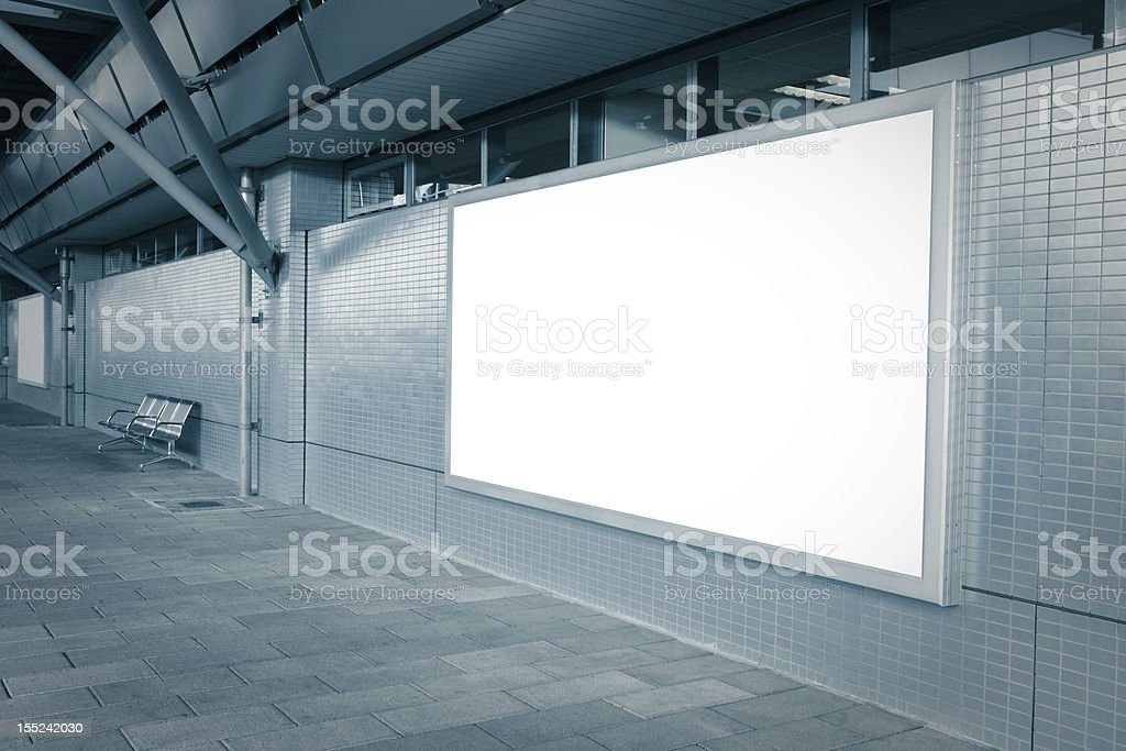 Blank billboard with empty copy space stock photo