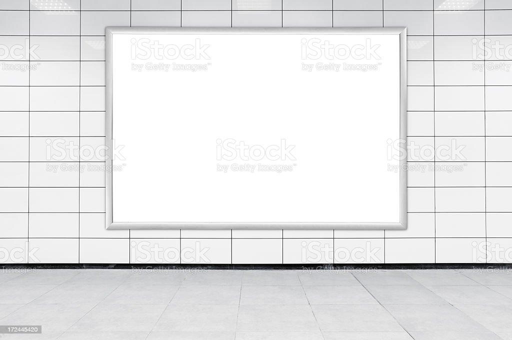 Blank Billboard XL royalty-free stock photo