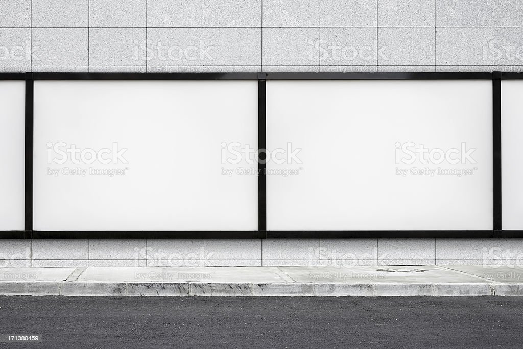 Blank Billboard XXL stock photo