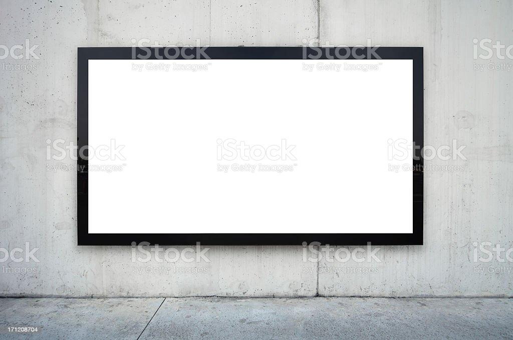 Blank Billboard XXXL stock photo