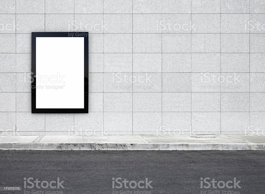 Blank Billboard XXXL stock photo