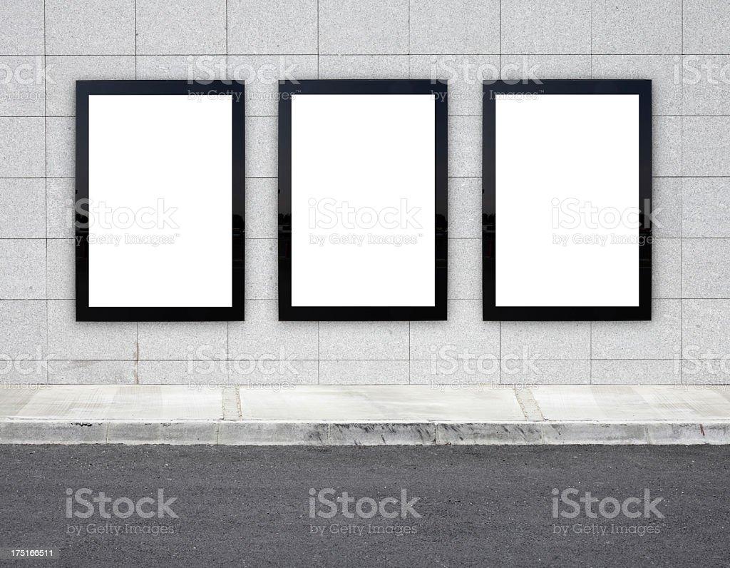 Blank Billboards XXXL royalty-free stock photo