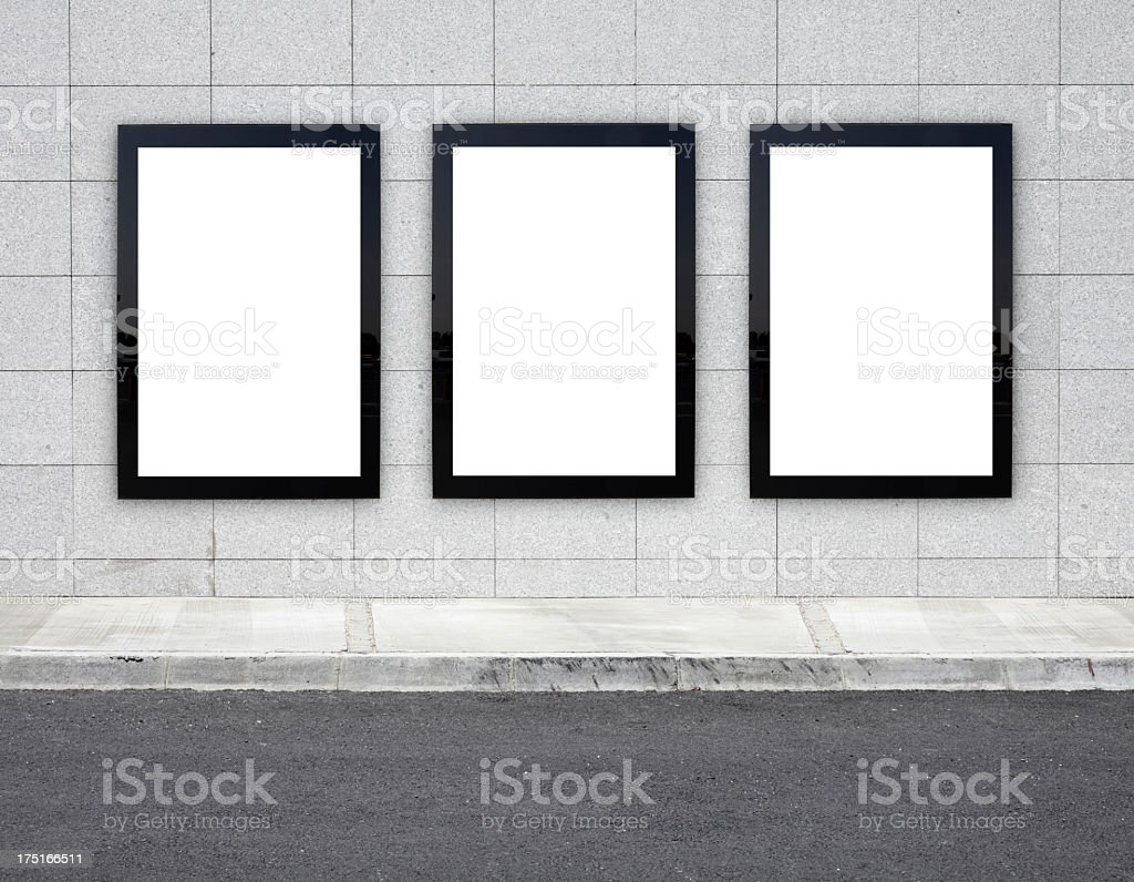 Blank Billboards XXXL stock photo