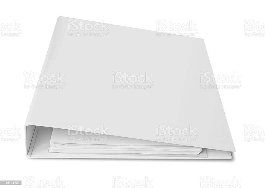 Blank binder for documents royalty-free stock photo