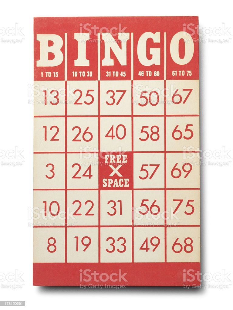 Blank Bingo Card stock photo