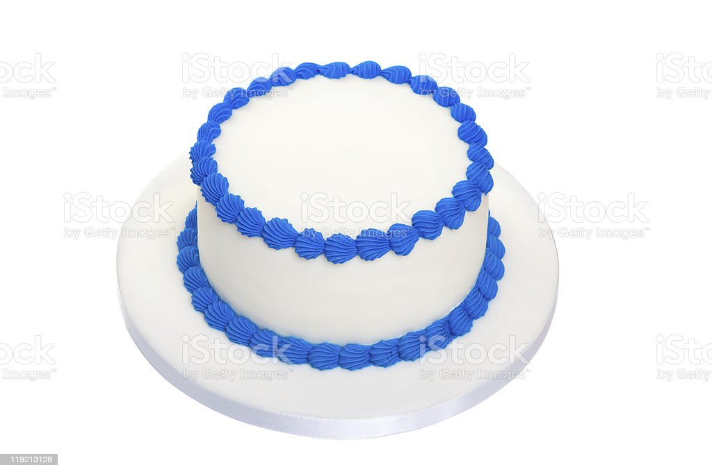Blank birthday cake stock photo