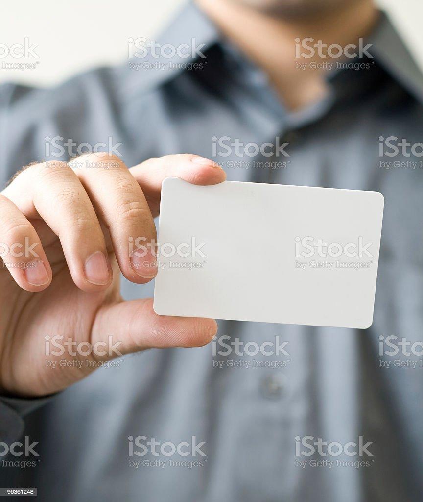 Blank Biz Card stock photo