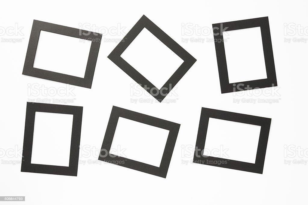Blank black 6x8cm photo frame on white background royalty-free stock photo