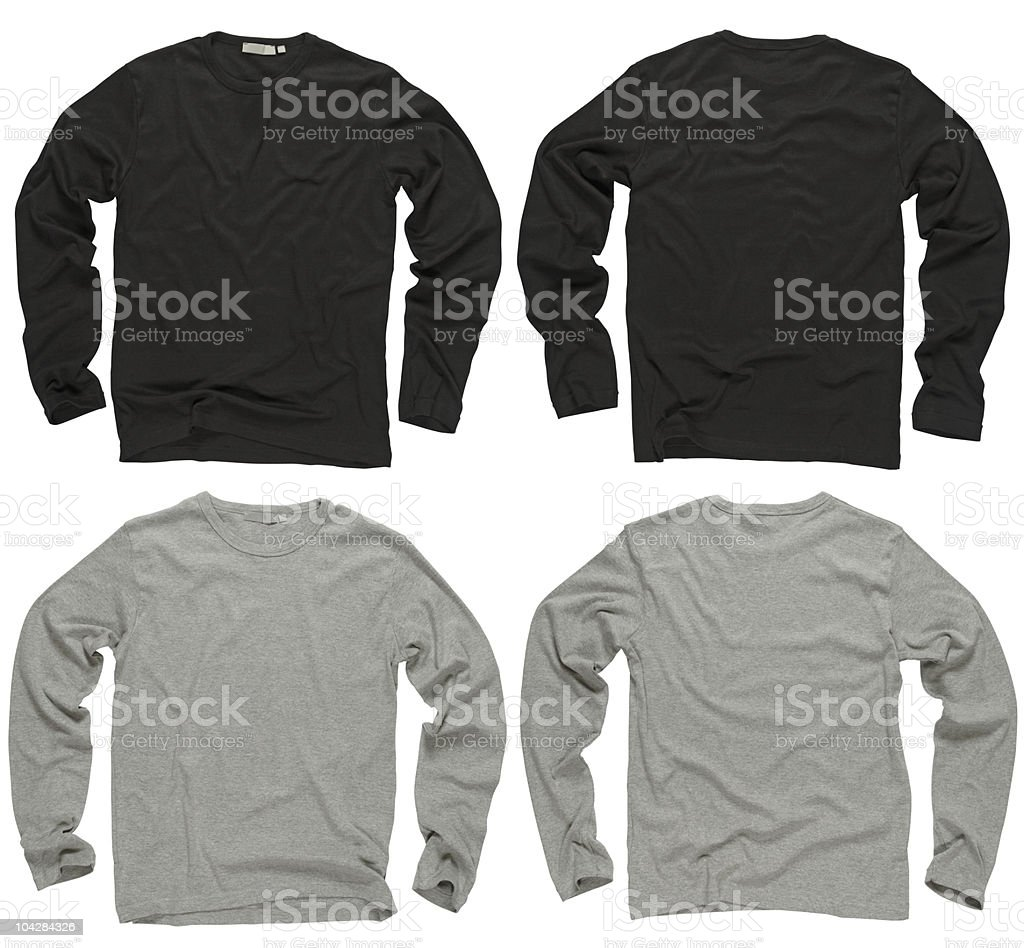 Blank black and gray long sleeve shirts stock photo