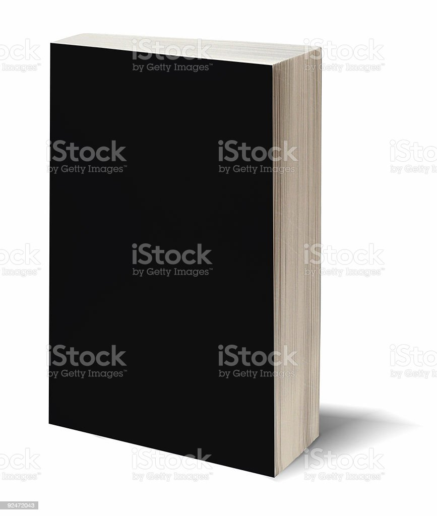 Blank black book w/path stock photo