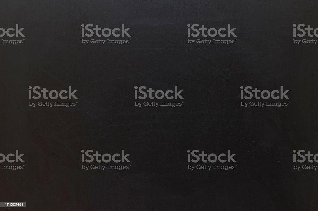 A blank black chalkboard background royalty-free stock photo