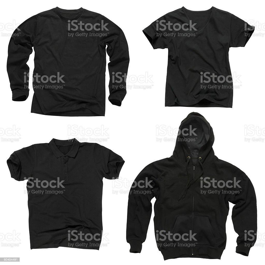 Blank black clothing stock photo