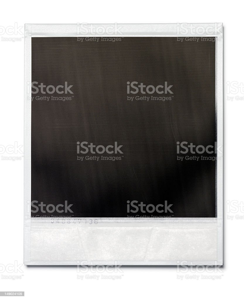 Blank black Polaroid photo frame royalty-free stock photo