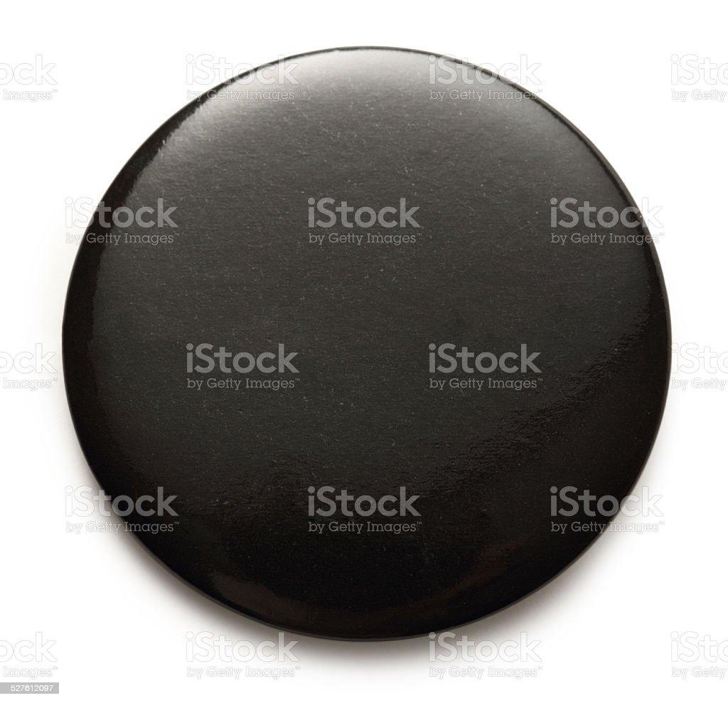 Blank black round badge stock photo