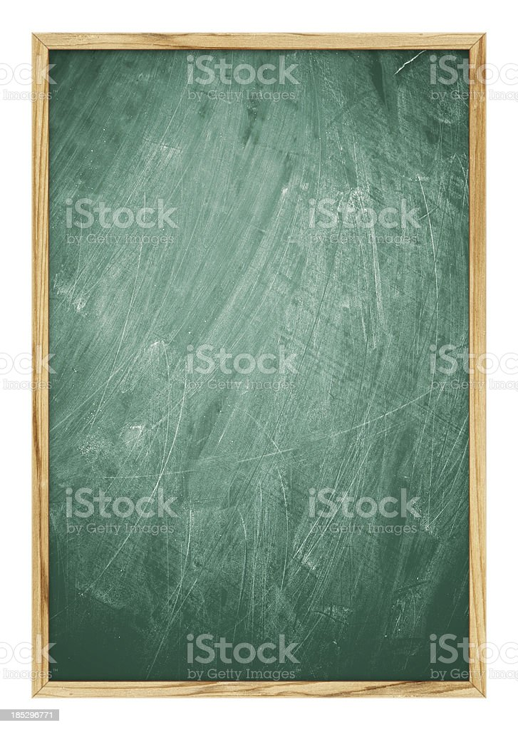 Blank Blackboard background (Clipping Path!) isolated on white stock photo