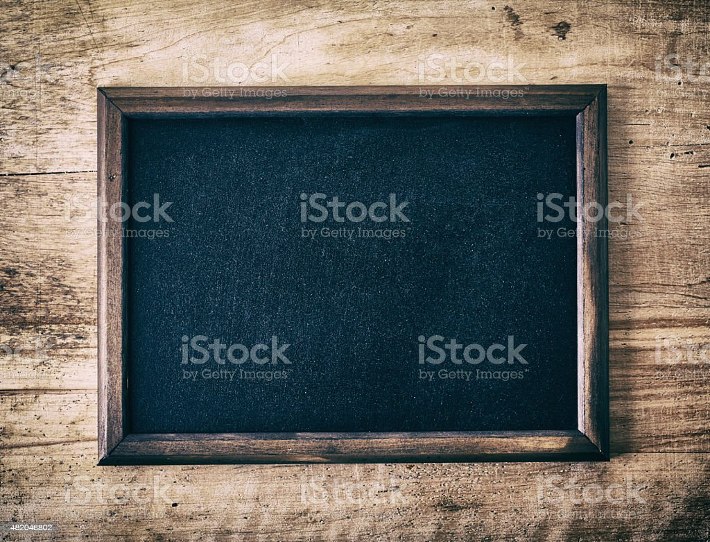 Blank blackboard stock photo
