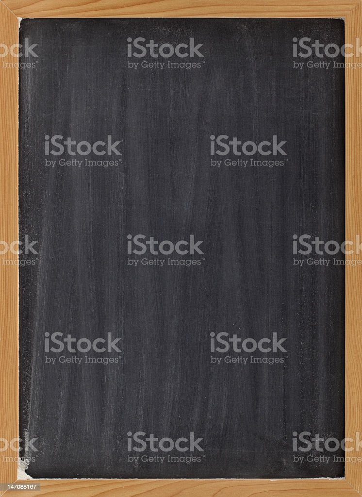 Blank blackboard sign with corners a little worn out stock photo