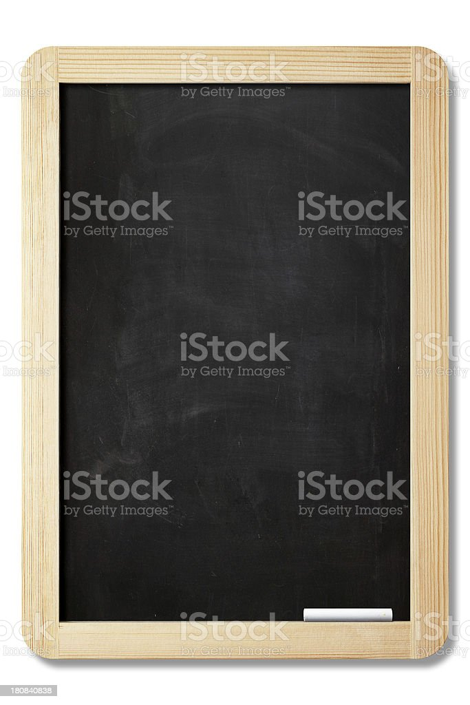 Blank blackboard with clipping path stock photo