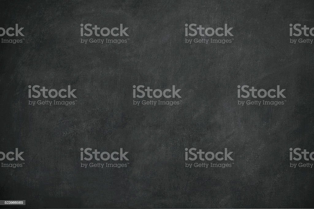 Blank Black Chalkboard with Traces of Erased Chalk stock photo