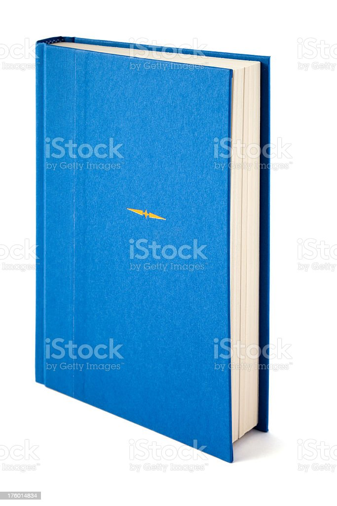 Blank Blue Book Standing royalty-free stock photo