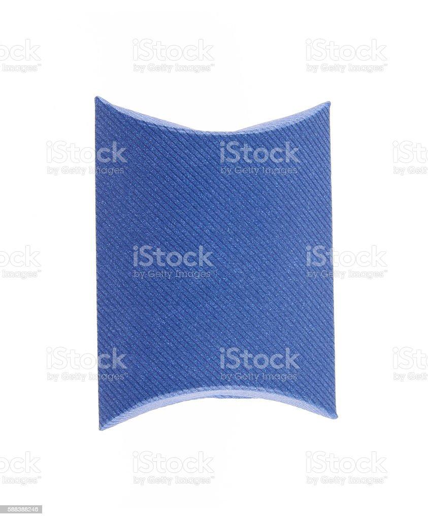 Blank blue box isolated stock photo