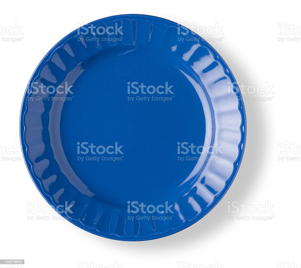 blank blue dish royalty-free stock photo