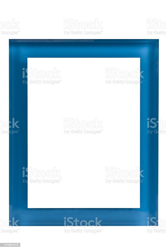 Blank Blue Plexiglas Award royalty-free stock photo