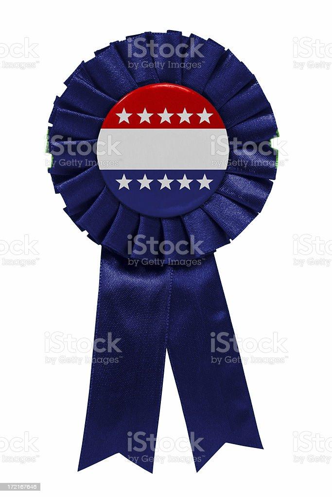 Blank Blue ribbon with stars stock photo