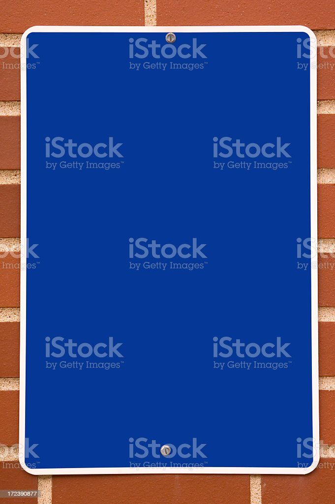 Blank blue sign royalty-free stock photo