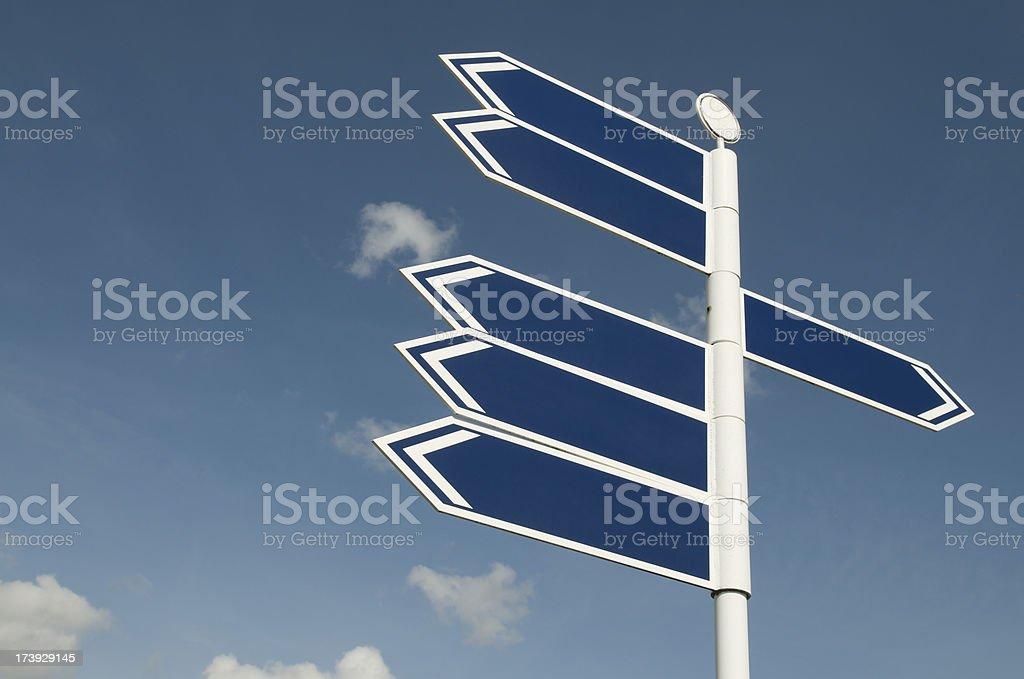 Blank Blue Sign Sky stock photo