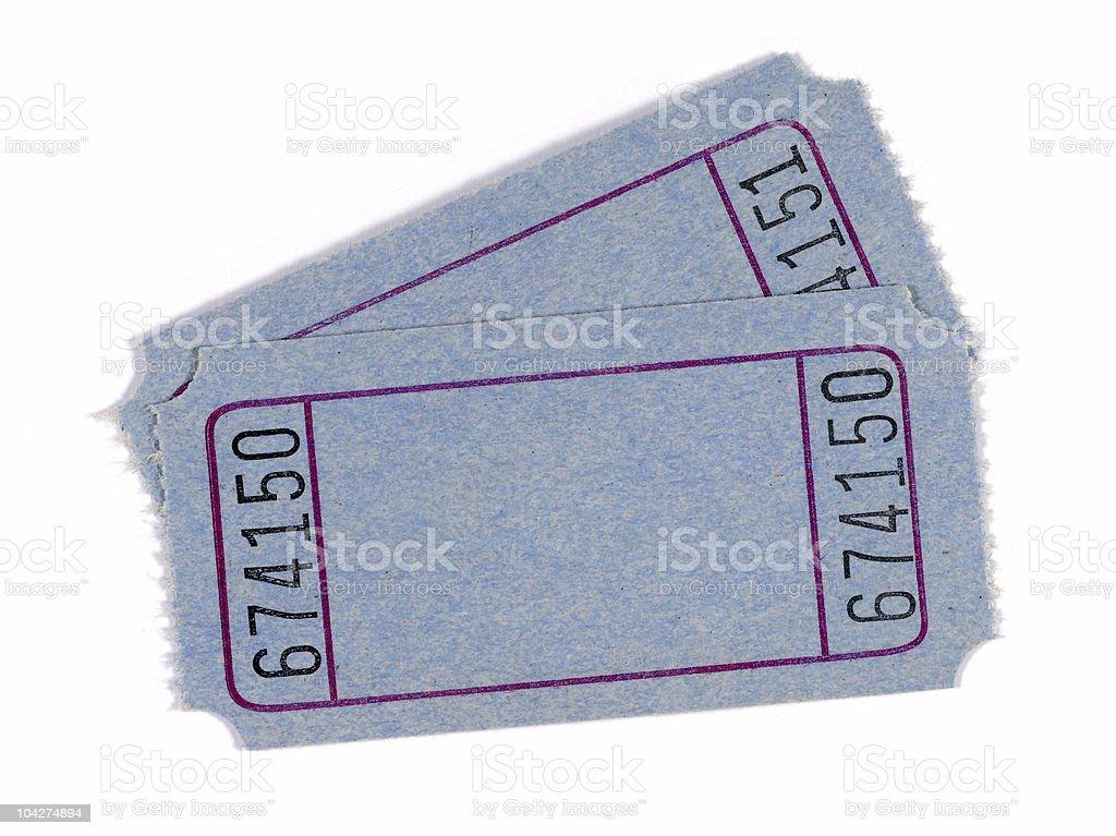 Blank blue tickets royalty-free stock photo