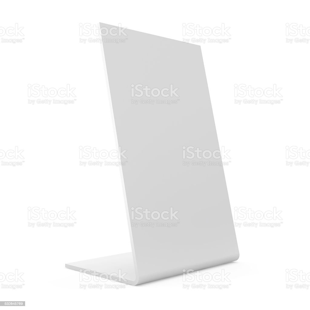 Blank Board isolated on white background stock photo