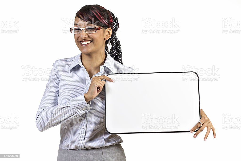 Blank Board stock photo