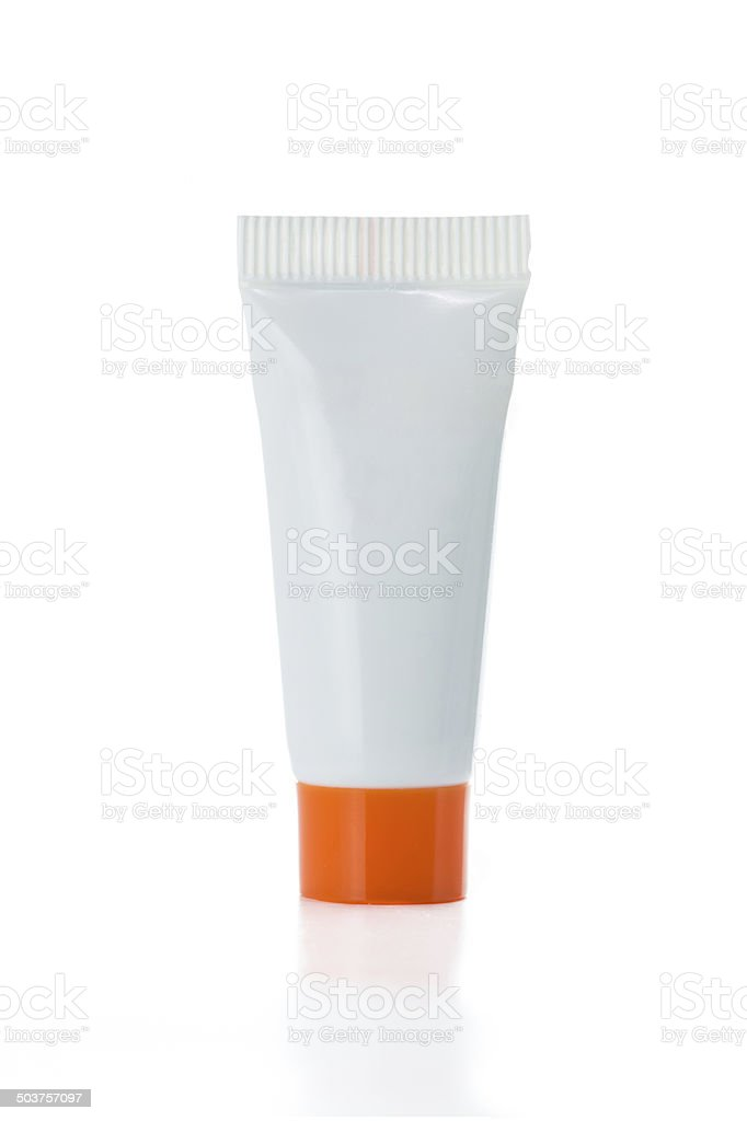 Blank Body lotion , Shampoo or liquid soap container stock photo