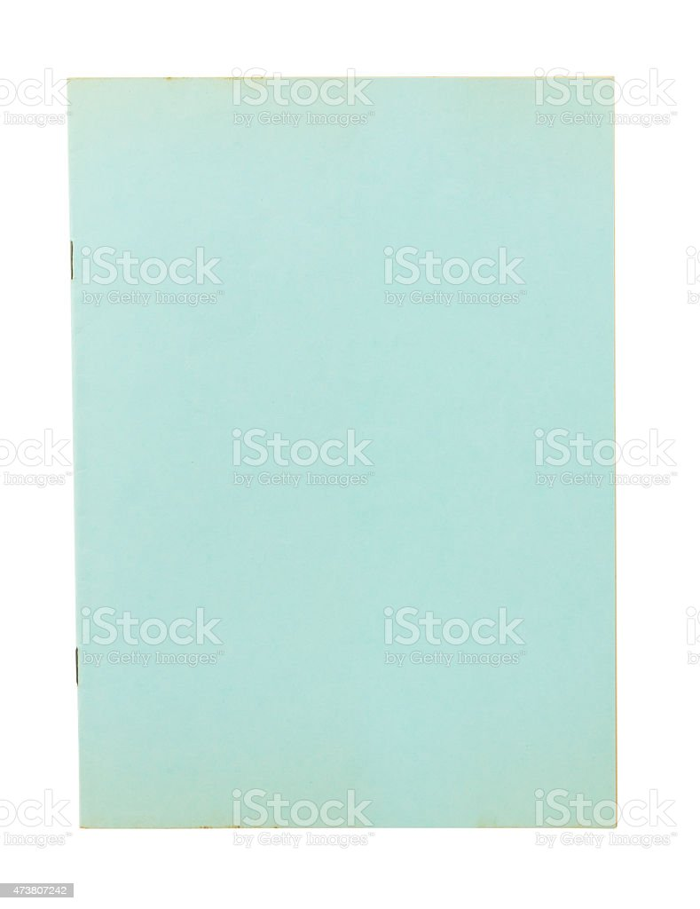 Blank book cover isolated on white background stock photo
