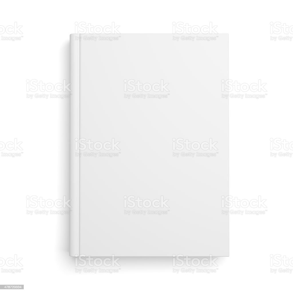 Blank book cover isolated on white stock photo