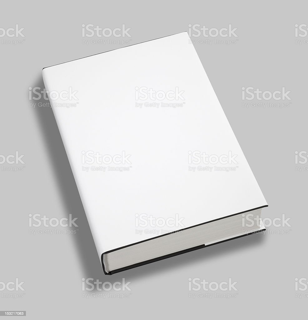 Blank book cover w clipping path royalty-free stock photo