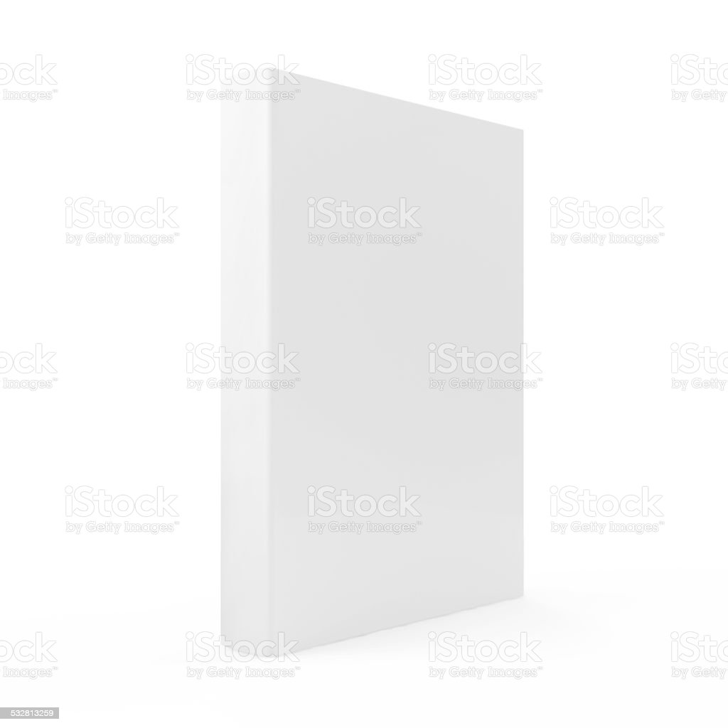 Blank Book isolated on white background stock photo