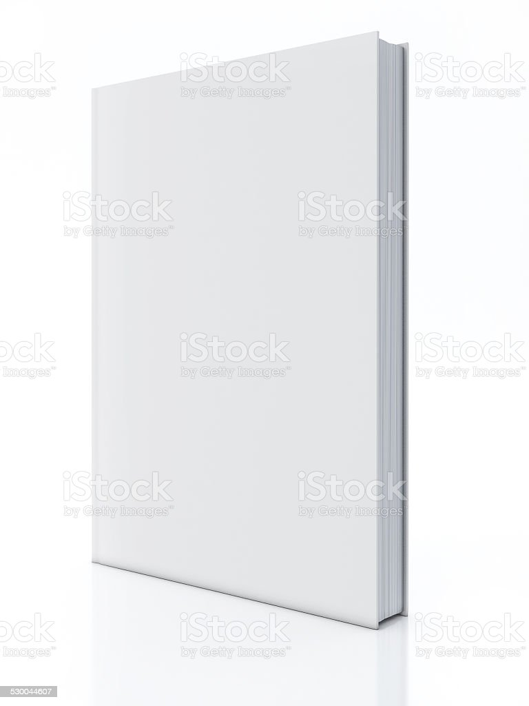 Blank book isolated over white stock photo