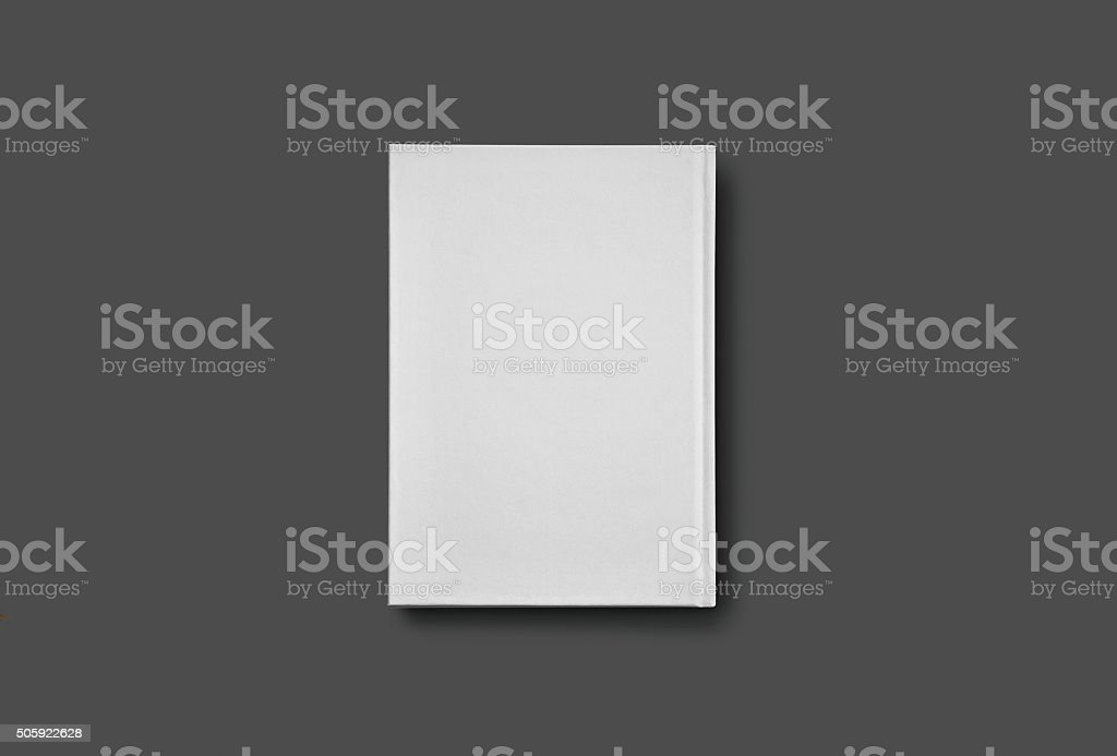 Blank Book mockup isolated on grey. stock photo