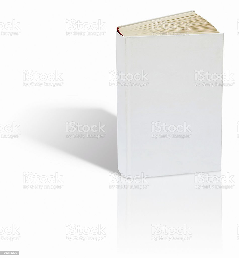 Blank book on white background royalty-free stock photo