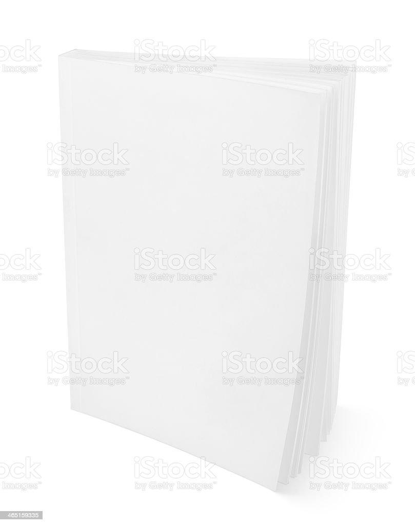 Blank book on white stock photo