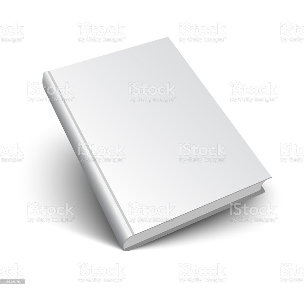 blank book on white vector art illustration
